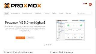 Proxmox VE 5.0 | Installation (Debian Wochen)