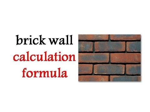 brick wall calculation formula