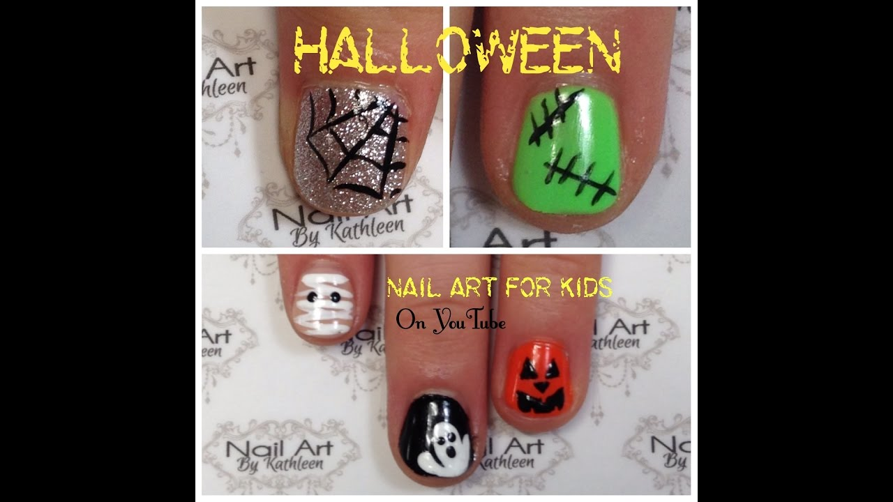 Halloween Nail Art For Kids, 5 Easy DIY Nail Designs ...