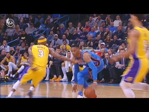 Russell Westbrook CROSSES OVER Corey Brewer! Thunder vs Lakers