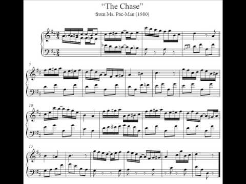 Ms Pac Man Sheet Music The Chase Youtube