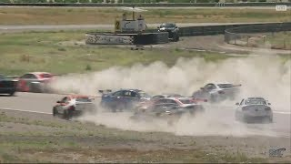 Pirelli World Challenge (TC/TCA/TCB) 2017. Race 1 Utah Motorsports Campus. Start Crash
