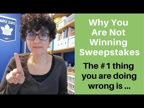 Why You Are Not Winning Sweepstakes