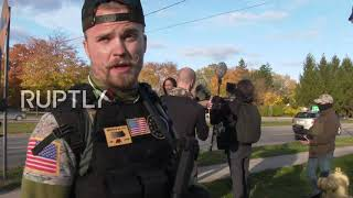 USA: Pro- and anti-Trump groups hold protests in Michigan