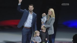 Rick Nash Honored Before Rangers-Blue Jackets Game