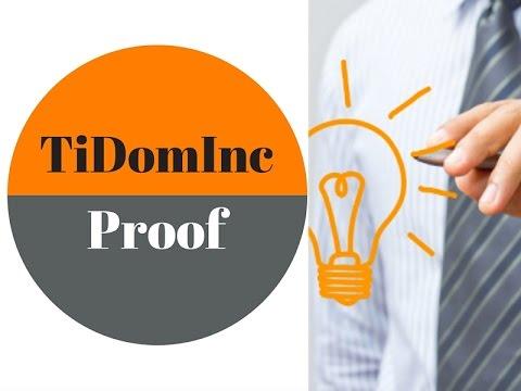 Proof | TiDom Inc Proof