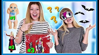 Picking our Halloween costume Blindfolded challenge! - Happy Hallow...