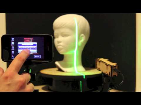 Moedls - Mobile 3d Laser Scanner - Entry in Engadget's Insert Coin competition!