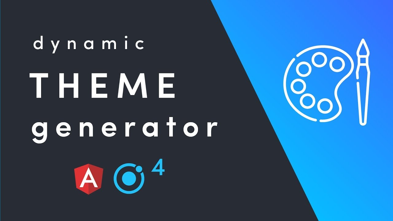 Ionic 4 Theme Builder with CSS Variables - YouTube