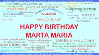 MartaMaria   Languages Idiomas - Happy Birthday