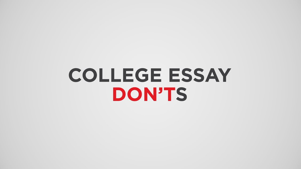 What should you write about in a college essay