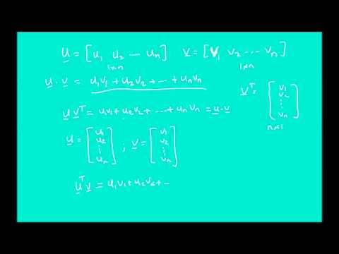 Elementary Linear Algebra Lecture 19 - Euclidean Vector Spaces (part 4)