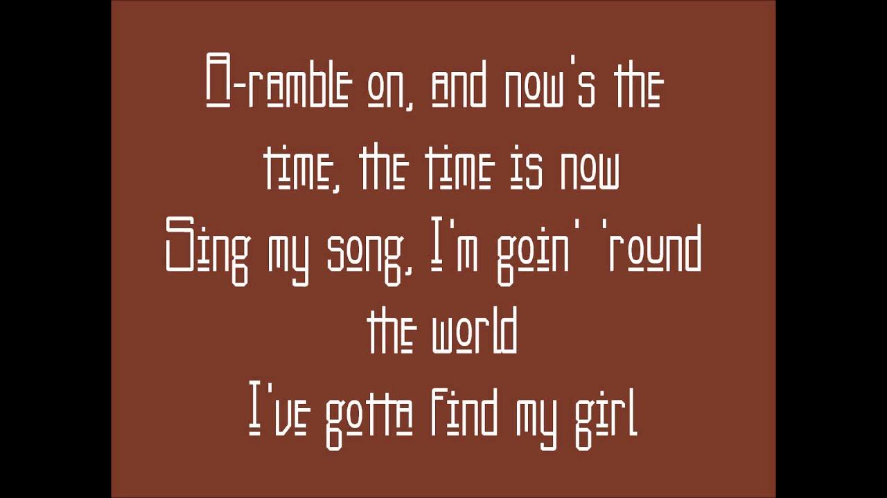 Ramble On Led Zeppelin Lyrics Youtube