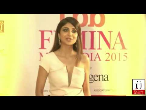 Shilpa Shetty, Chitrangada Singh, Anil Kapoor & Neha Dhupia at Femina Miss India 2015 Grand Finale