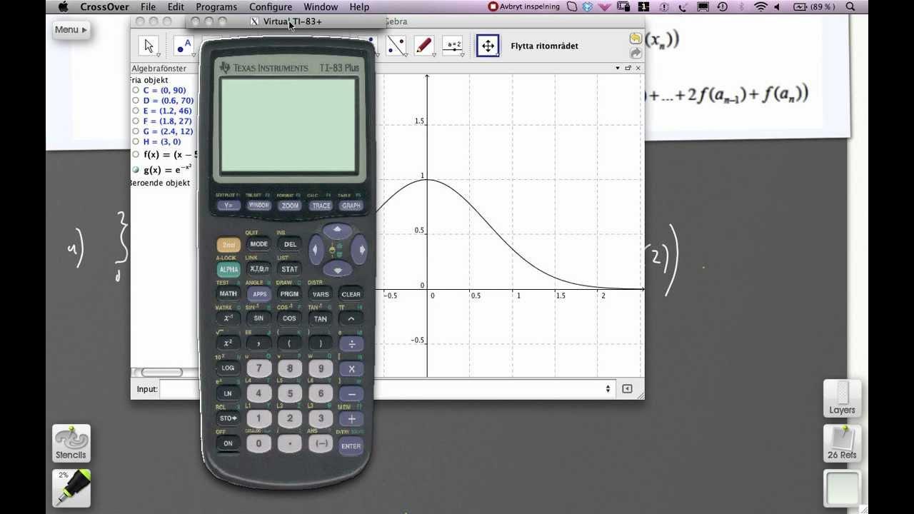 Numeriska metoder för integraler - Uppgift 7523