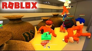 STEALING THE BANK OF JAILBREAK IN ROBLOX!!!