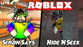 Roblox Jailbreak Live!🔴🍂 | Simon says and Hide and seek and more!| Come join us!😄