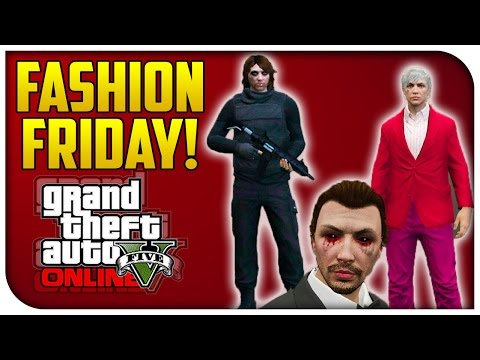 GTA 5 Online - FASHION FRIDAY! (The Winter Soldier, Vampire & Navy Seal) [GTA V Cool Outifts]