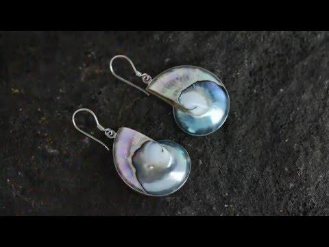 Bali Silver Jewelry Wholesale Shell Earrings
