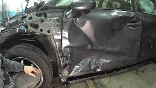 кузовной ремонт Toyota prius v #Garage880 #рихтовка кузова своими руками