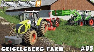 Spreading lime, planting corn with new equipment| Geiselsberg Farm | Farming simulator 19 | ep #05