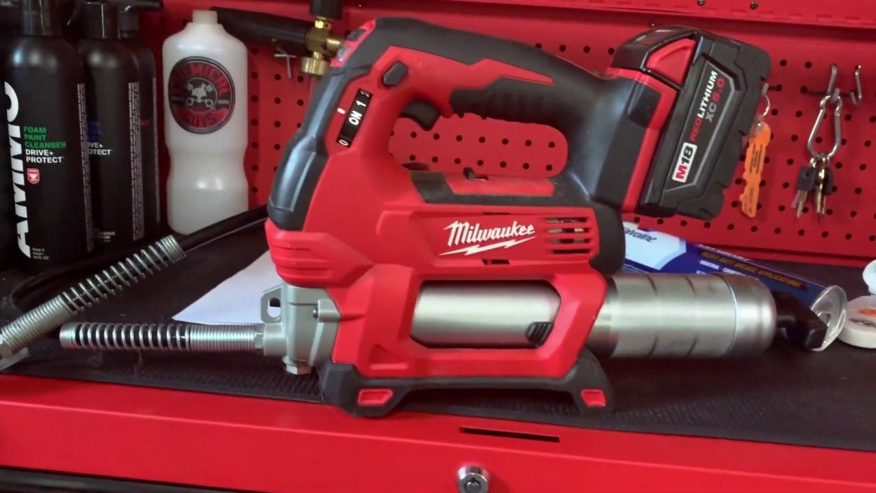 Milwaukee M18 Grease Gun Cartridge Change Youtube
