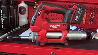 Milwaukee M18 Grease Gขn Cartridge Change