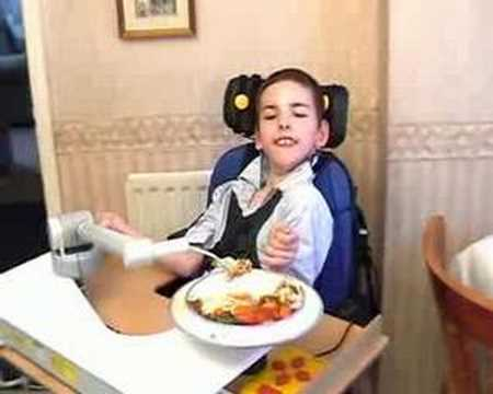Neater Eater Eating Aid And Neater Arm Support Youtube