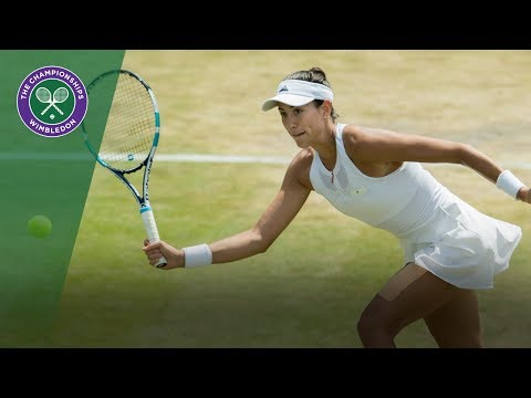 Garbiñe Muguruza v Angelique Kerber highlights - Wimbledon 2017 fourth round