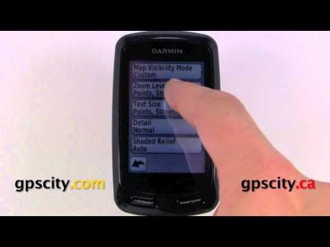Garmin Edge 800 GPS Bike Computer - Map Setup Screens