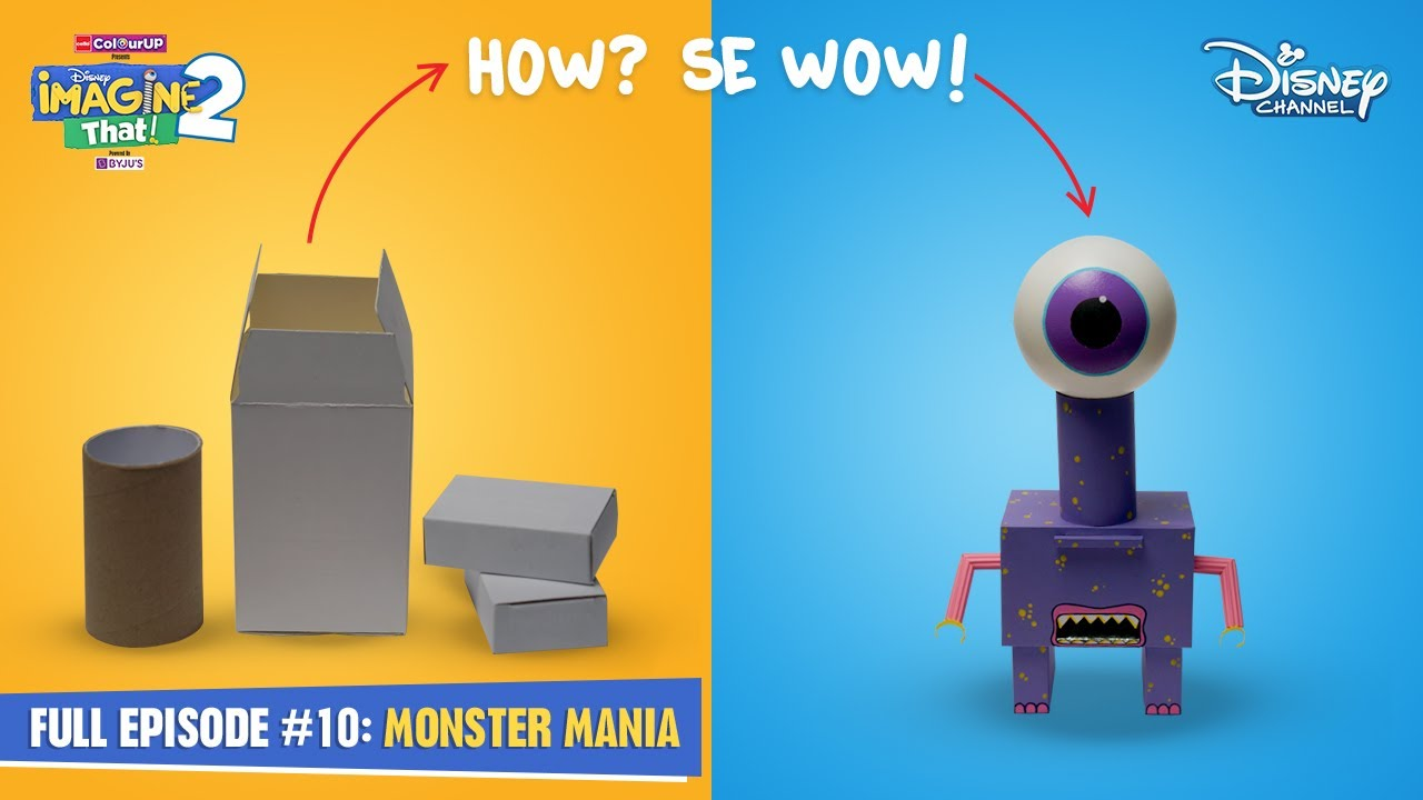 Disney Imagine That 2   Episode 10   Monster Mania DIYs   Hindi   Disney Channel