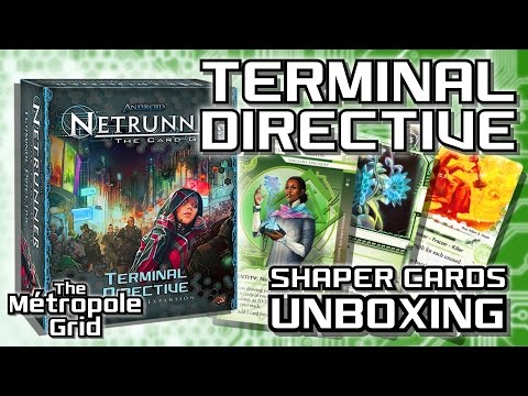 Netrunner Unboxing: Terminal Directive - Shaper Cards