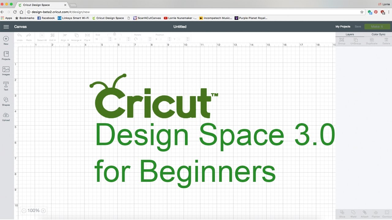 Cricut design space for beginners youtube for Design a space online
