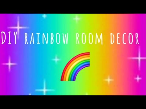 🌈DIY rainbow room decor🌈