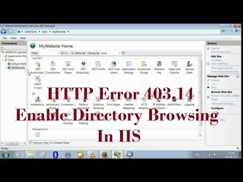 Enable Directory Browsing In IIS (HTTP Error 403.14)(The Web server is configured to not list)