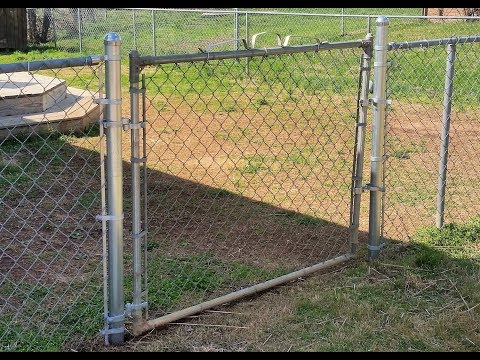adding a gate to a chain link fence ( how I did it)