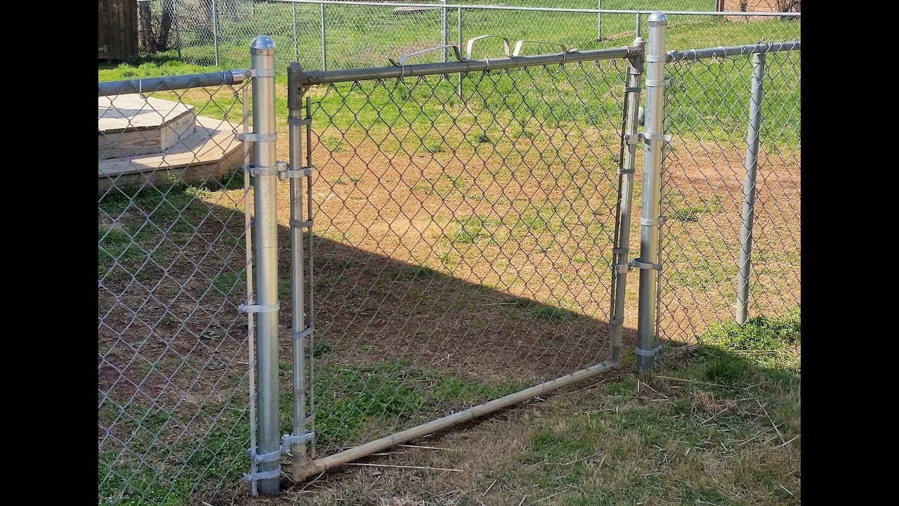 Adding A Gate To Chain Link Fence How I Did It You
