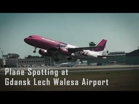 Plane spotting at Gdansk Lech Walesa Airport [HD]