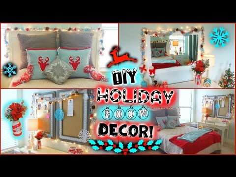 diy holiday winter room decor easy ways to decorate for christmas jessica reid youtube