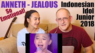 ANNETH - JEALOUS (Labrinth) - TOP 7 - Indonesian Idol Junior 2018 | REACTION