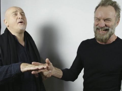 Sting And Gabriel On The 'sniff' For Inspiration