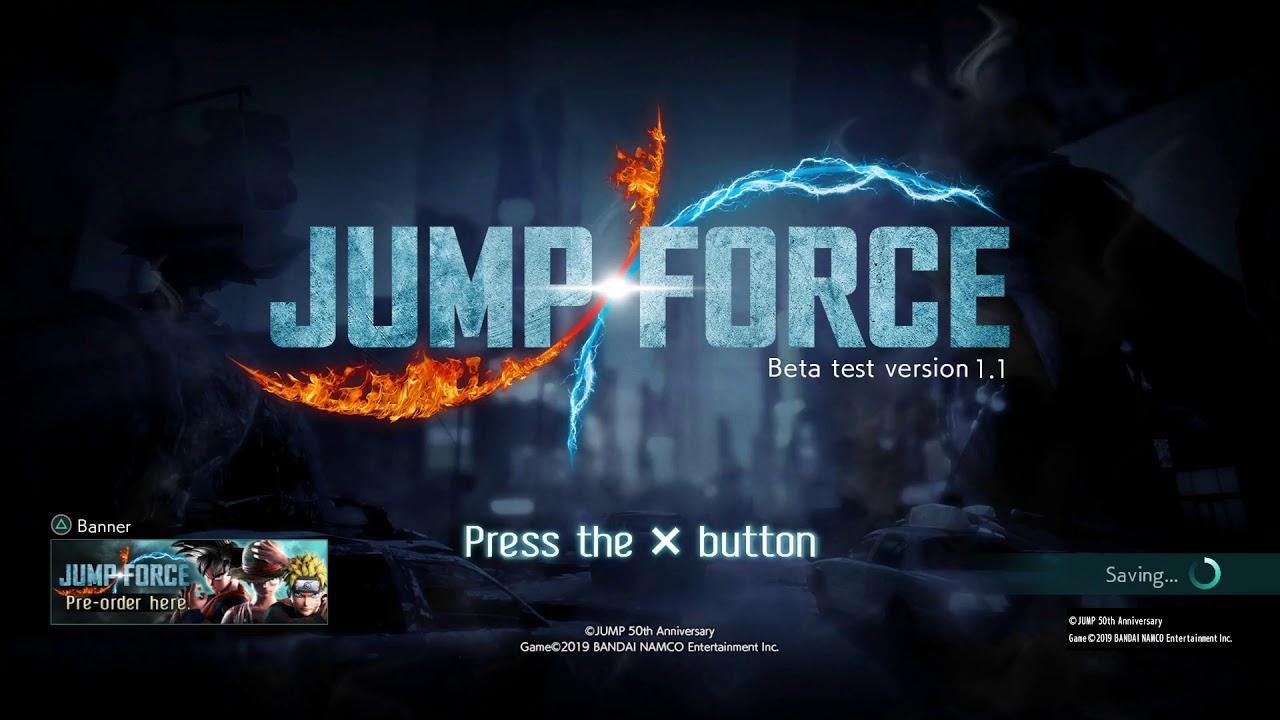 JUMP FORCE Beta Test Version 1.1