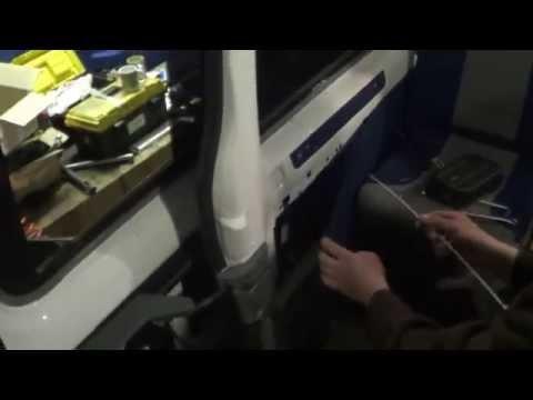 Автоматическая установка на дверь газели