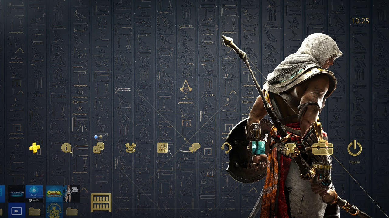 ASSASSIN'S CREED ORIGINS DYNAMIC THEME HD (PS4) - YouTube