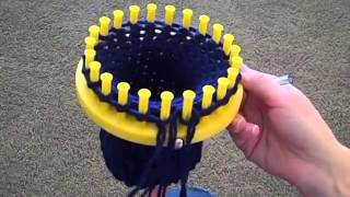 How to finish your hat on a round loom.