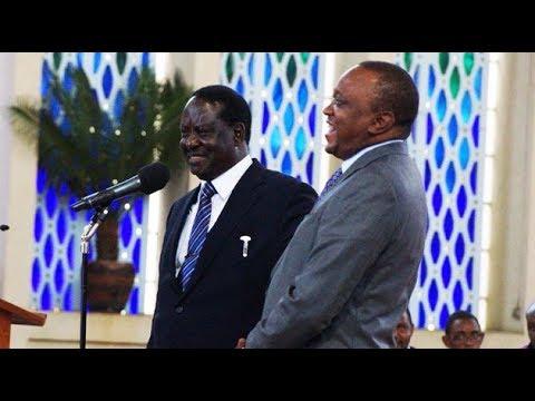 LOVE GALORE: Foreign nationals re-unite Raila Odinga and Uhuru Kenyatta at Prayer Breakfast