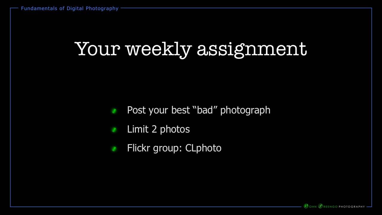 weekly photo assignment