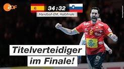 Halbfinale: Spanien - Slowenien 34:32 - Highlights | Handball-EM 2020 - ZDF