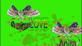 Suniram love Anita Devi Name Green Screen | Suniram  & Anita Love,Effects chroma key Animated Video