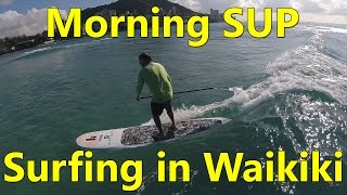 Video A Morning SUP Surfing Session in Waikiki download MP3, 3GP, MP4, WEBM, AVI, FLV Juli 2018